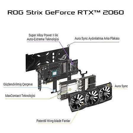 ASUS ROG Strix GeForce RTX 2060 6G GAMING 6GB 192Bit GDDR6