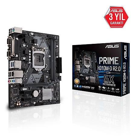 ASUS PRIME H310M-D R2.0 DDR4 2666MHz VGA HDMI M.2 mATX 1151p
