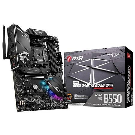 MSI MPG B550 GAMING EDGE DDR4 5100MHz (OC) HDMI DP M.2 USB3.2 WIFI ATX AM4
