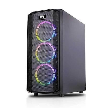 PowerBoost X58RGB Mesh Panel ATX Kasa PSU Yok