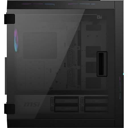 MSI MPG SEKIRA 500X RGB Temperli Cam ATX Gaming Bilgisayar Kasasý PSU Yok