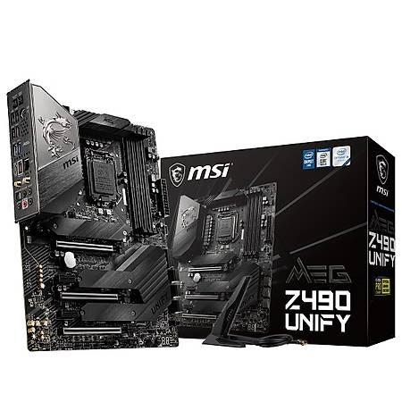 MSI MEG Z490 UNIFY DDR4 4800MHz (OC) M.2 USB 3.2 Wi-Fi ATX 1200p