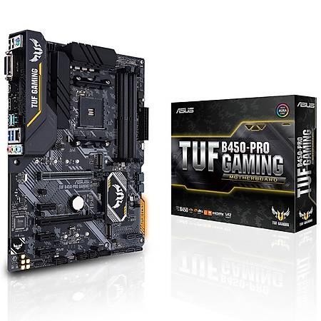 ASUS TUF B450 PRO GAMING DDR4 4400MHz HDMI DVI M.2 AURA RGB ATX USB 3.1 AM4