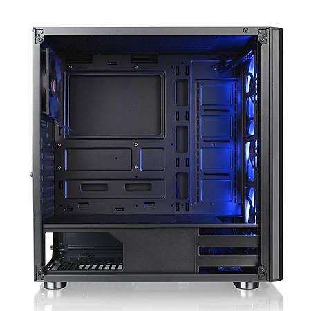Thermaltake V200TG RGB 3 Fanlý Siyah Mid-Tower Oyuncu Kasasi PSU Yok