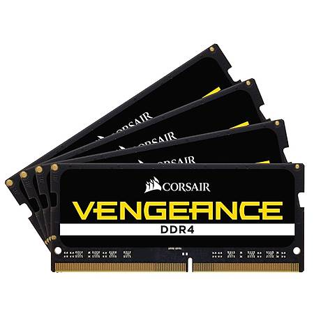 Corsair Vengeance 64GB (4x16GB) DDR4 2666MHz CL18 Siyah Notebook Ram