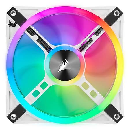 Corsair iCUE QL120 RGB 120mm Beyaz Fan Lighting Node Core Kontrolcü 3 lü Paket