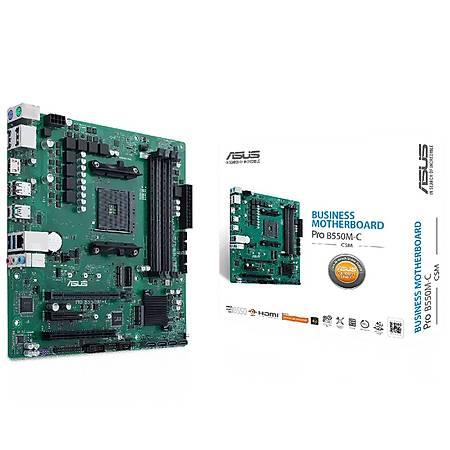 ASUS PRO B550M-C/CSM DDR4 4600MHz (OC) HDMI 2xM.2 USB 3.2 mATX AM4