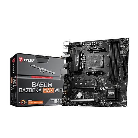 MSI B450M BAZOOKA MAX WIFI DDR4 3466MHz HDMI M.2 USB 3.2 mATX AM4