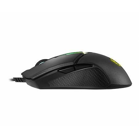 MSI Clutch GM30 6200 DPI Optik Siyah RGB Oyuncu Mouse