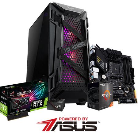 Powered By ASUS B550M PLUS Ryzen 5 5600X 16GB 480GB SSD 12GB GeForce RTX3060 V2 OC 650W PSU