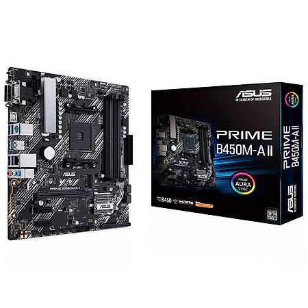 ASUS PRIME B450M-A II DDR4 4400MHz VGA HDMI DVI M.2 USB 3.2 mATX AM4