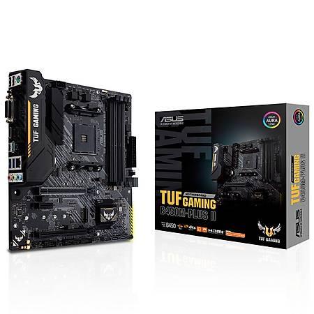 ASUS TUF GAMING B450M-PLUS II DDR4 4400MHz HDMI DVI M.2 USB 3.2 mATX AM4