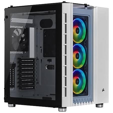 Corsair Crystal 680X RGB Temperli Cam Beyaz ATX MidTower Kasa PSU Yok
