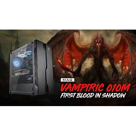 MSI MAG VAMPIRIC 010M Temperli Cam ATX Gaming Bilgisayar Kasasý PSU Yok