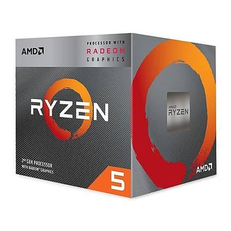 AMD Ryzen 5 3400G Soket AM4 3.7GHz 6MB Cache Ýþlemci