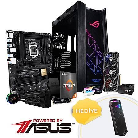 Powered By ASUS ProArt X570 CREATOR Ryzen 9 5950X 128GB 4TB SSD 24GB GeForce RTX3090 ROG RYUO 240 OLED Sync RGB Sývý Soðutma 1000W PSU