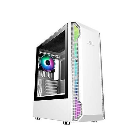 Power Boost VK-G3701W Mesh Panel ARGB Fan Strip Beyaz ATX Kasa PSU Yok