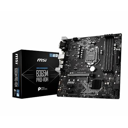 MSI B365M PRO-VDH DDR4 2666MHz VGA DVI HDMI mATX 1151p