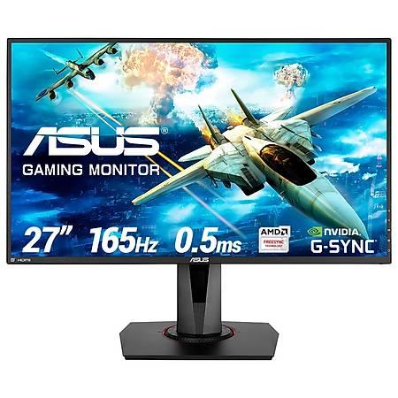 ASUS 27 VG278QR Gaming 1920x1080 165Hz DVI HDMI DP MM 0.5ms FreeSync G-Sync Vesa Siyah