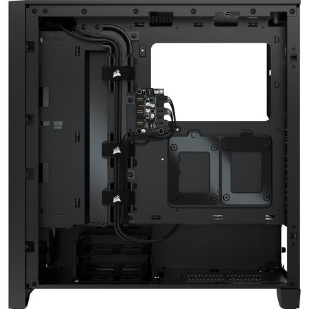 Corsair iCUE 4000X RGB Temperli Cam Siyah ATX MidTower Kasa PSU Yok