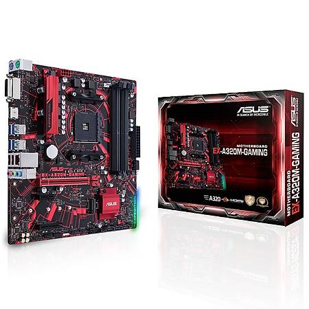 ASUS EX-A320M-GAMING A320 DDR4 2666MHz HDMI DVI M.2 USB 3.1 mATX AM4