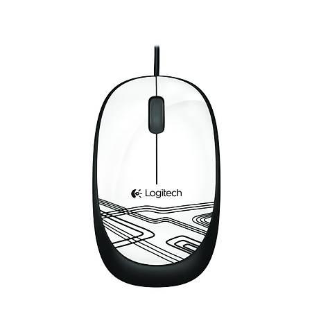 Logitech M105 Kablolu Mouse Beyaz 910-002944