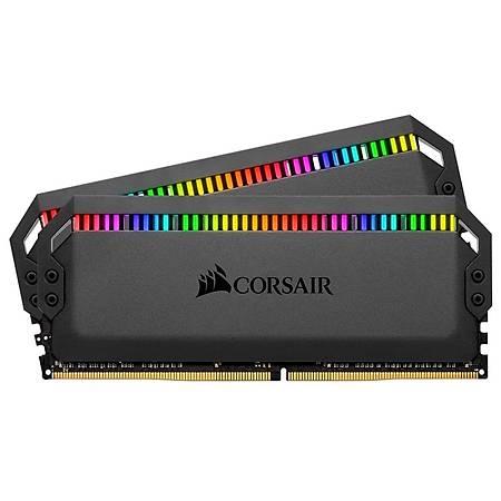 Corsair Dominator Platinum RGB 16GB (2x8GB) DDR4 3200MHz CL16 Amd Ryzen Siyah Dual Kit Ram