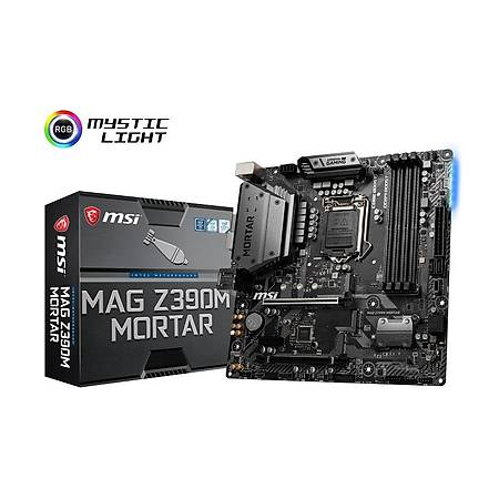 MSI MAG Z390M MORTAR DDR4 4266MHz (OC) DVI HDMI DP mATX 1151p