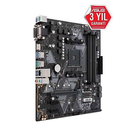 ASUS PRIME B450M-A DDR4 4400MHz (OC) VGA DVI HDMI M.2 USB3.1 TPM mATX AM4
