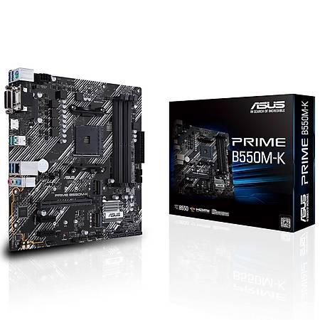 ASUS PRIME B550M-K DDR4 4400MHz (OC) HDMI DVI VGA 2xM.2 USB 3.2 mATX AM4