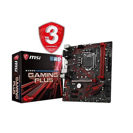 MSI B360 GAMING PLUS 2666MHz DDR4 DVI DP M.2 USB3.1 RGB ATX 1151p