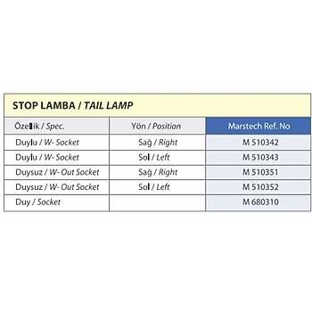 MAN Fortuna Lion's Classic Stop Lamba Duysuz  Sol