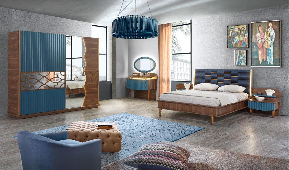 Koza Yatak Odasi Mavi Yatak Odalari Yatak Odasi Modelleri