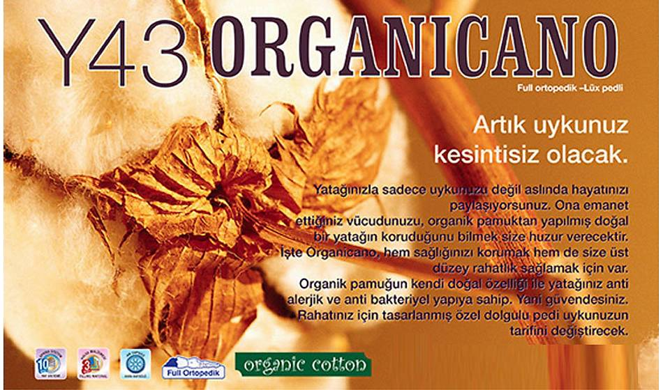 Organic Lüks Pedli 150x200 Yatak