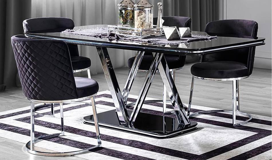 Versace Luxury Yemek Masasý Takýmý