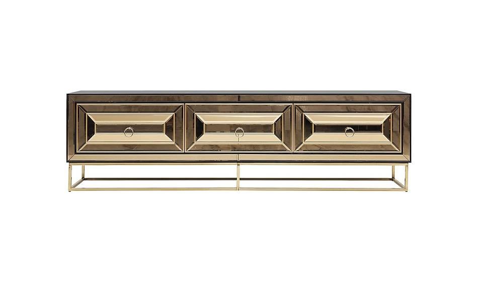 Fendi Black & Gold Luxury Tv Ünitesi