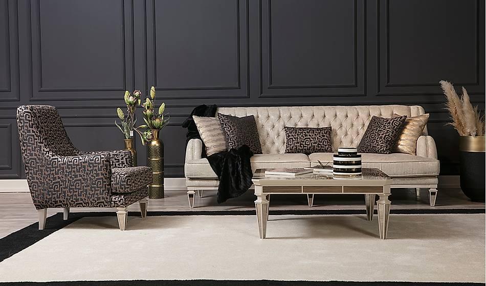 Elegant New Salon Takımı - Krem