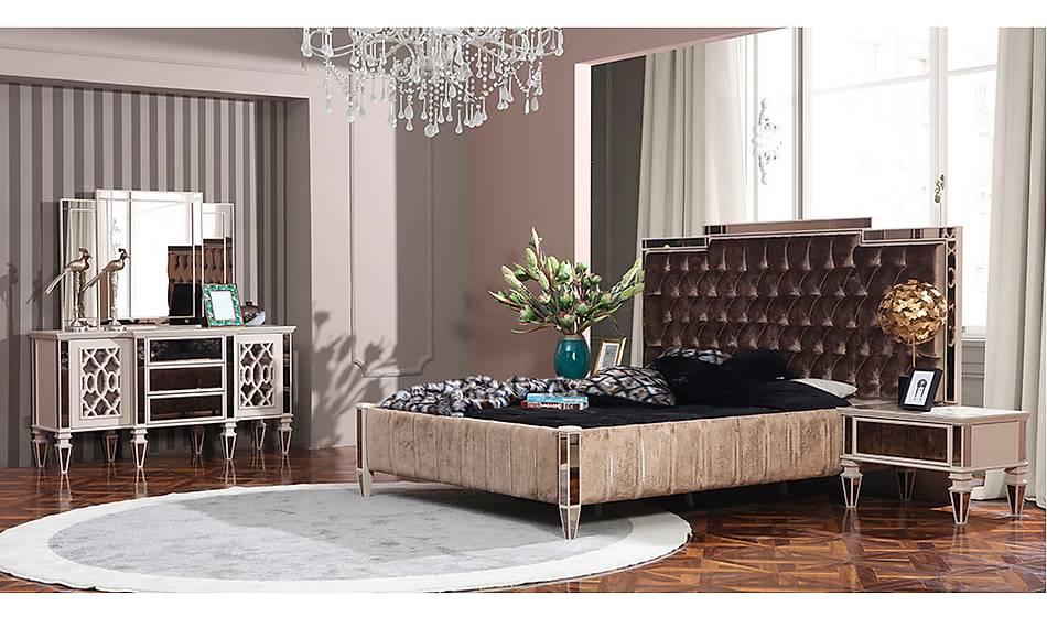 Elegant Lüks Yatak Odası - Krem
