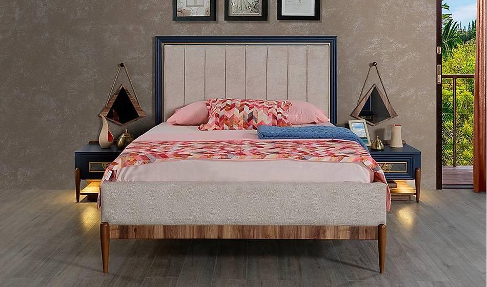 Harbiye Mavi Bazalı Yatak Odası