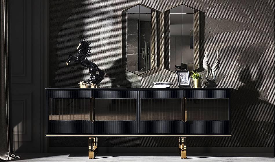 Cavalli Luxury Siyah Konsol