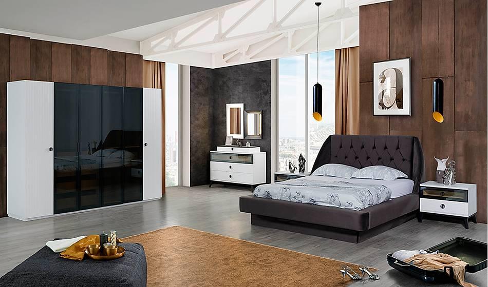 Loca Beyaz Bazalı Yatak Odası