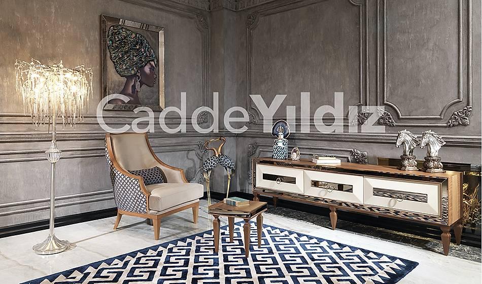 Rustik Ceviz Luxury Tv Ünitesi