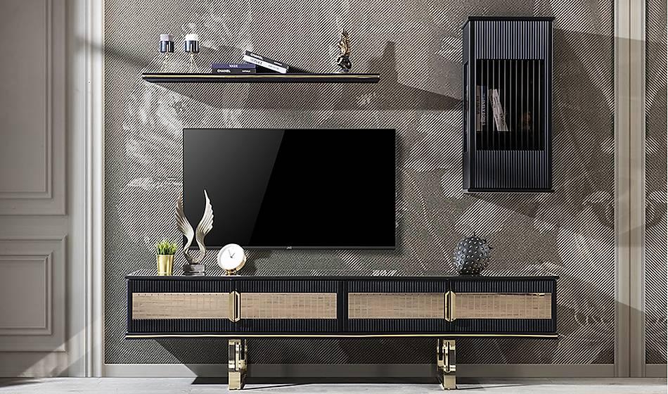 Cavalli Luxury Siyah Tv Ünitesi