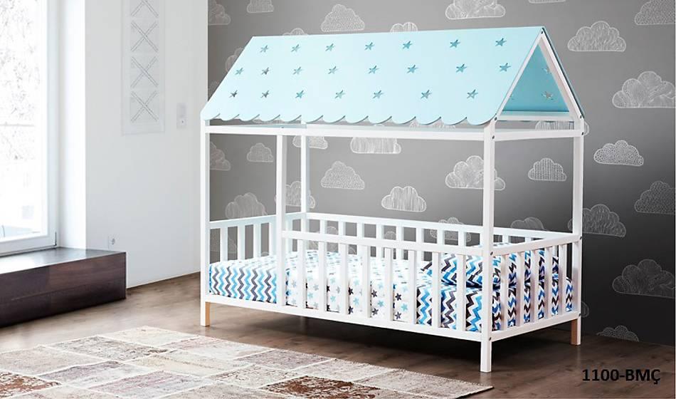 Montessori Yatak Mavi - 1100 Bmç
