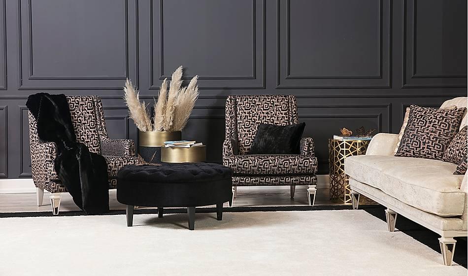 Elegant New Salon Takýmý - Krem