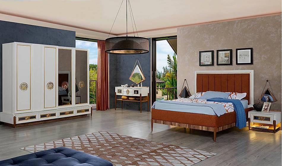 Harbiye Krem Bazalı Yatak Odası