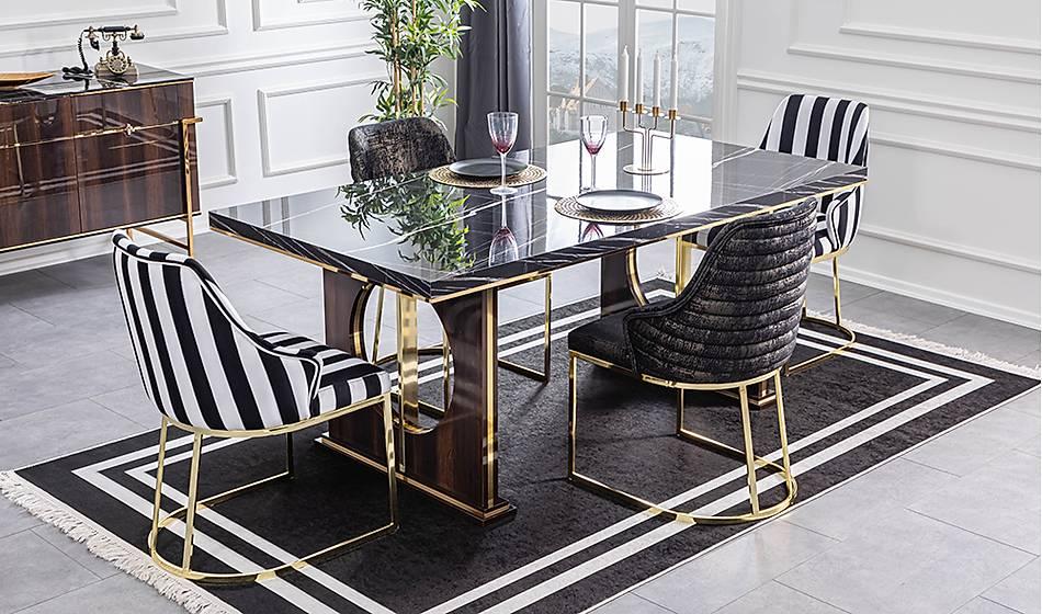 Asus Luxury Yemek Masası Takımı