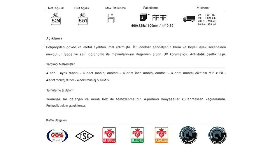 Icon-S Soft Sandalye 2 Adet