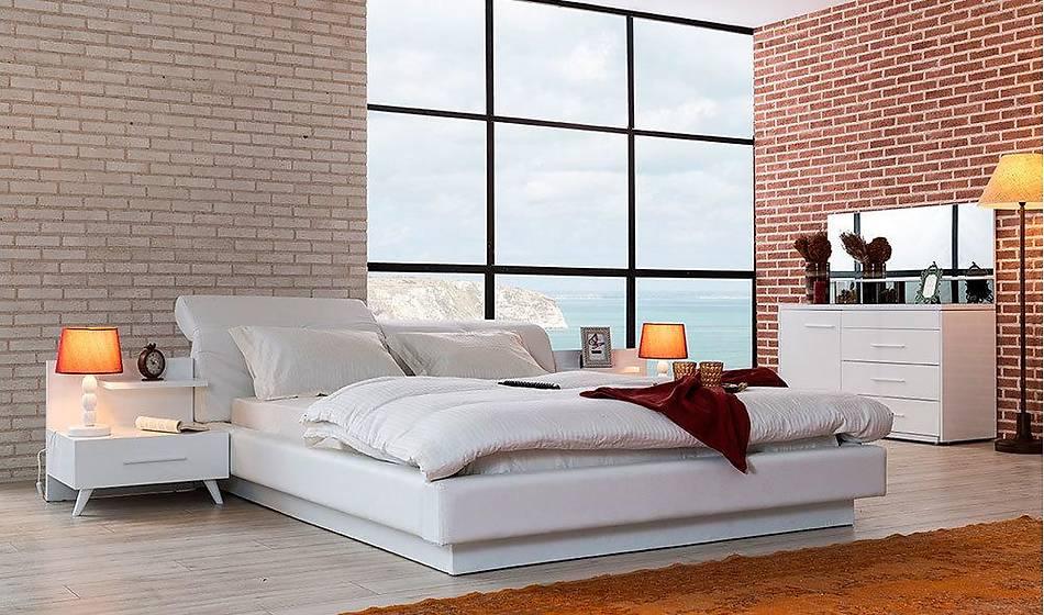 Valencia Bazalı Yatak Odası - Led Tvli