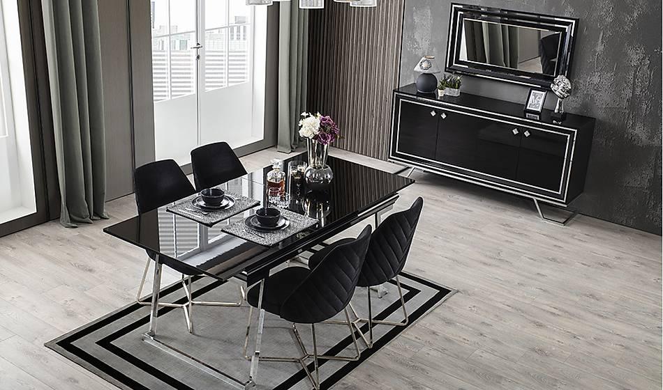 Rixos Luxury Siyah Yemek Odasý